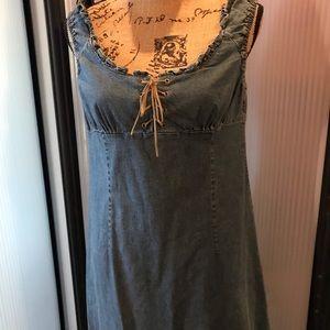 Guess bluejean dress w/ruffled hem & shoulders